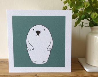 Polar bear greeting card.