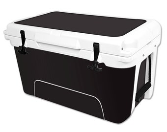 Skin Decal Wrap for RTIC Pelican Cooler 20 35 45 65 qt cover sticker Solid Black