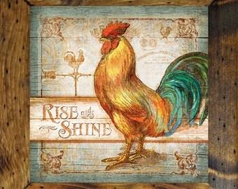 Rooster Wall Decor, Rooster Decor, 15x15, Rooster Wall Art, Country Kitchen  Decor