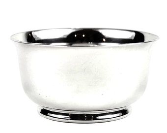 Vintage Silver Soldered Sugar Bowl, E & Co England, Rolled Base, Fluted Rim,