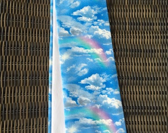 Rainbow Clergy Stole!  Reversible Pastor stole, Minister stole with rainbows in the sky! A perfect gift!