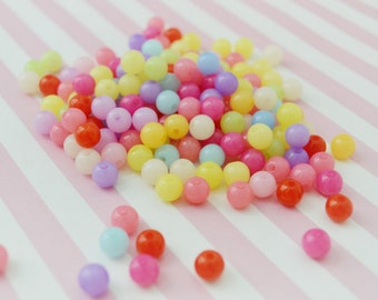 8mm Candy Colored Round Beads - set of 50