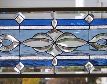 Stained Glass Window Hanging 44 1/2 X 12 1/2