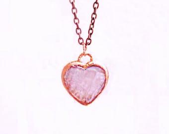 """Rose Quartz Heart Pendant – """"Wear Your Love"""""""