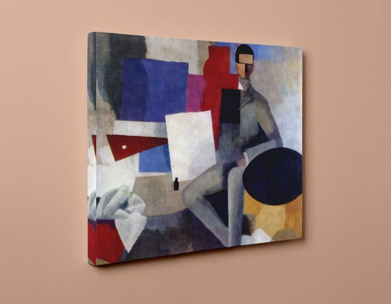 Sitting Man La Fresnaye | Juan Gris Mirror Wrapped HP Professional Canvas