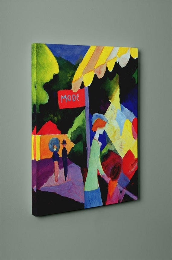 Fashion Window August Macke Mirror Wrapped Canvas