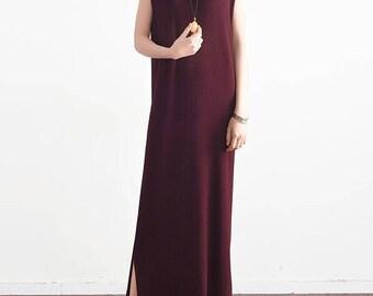 Linen, sweaters, sleeveless dress.