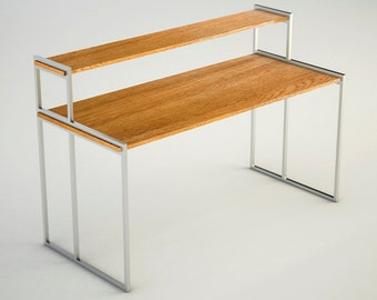 Office desk, bureau, Industrial Oak Elegance