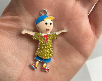 P106 Caillou Rhinestone Pendant for Chunky Necklaces