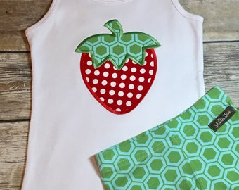 Strawberry Tank M2M Matilda Jane Puzzle Shorties