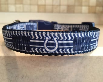 Colts Small and Medium Dog Collar with Optional Matching Leash