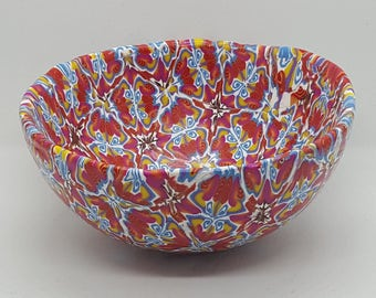 Handmade Large Ring Trinket Bowls with Various Colors and Patterns