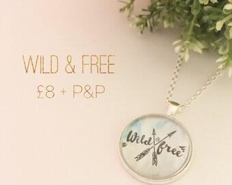 Wild & Free pendant