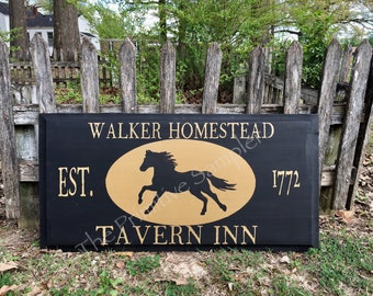 Primitive Tavern Sign, Colonial Tavern Sign, Reproduction Tavern Sign, Walker Homestead Tavern Sign, Tavern Inn Sign, Tavern Sign