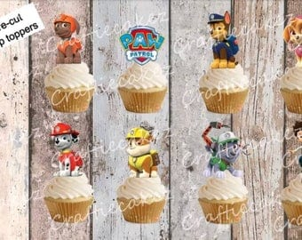 24 x Edible Pre Cut stand up Paw Patrol characters