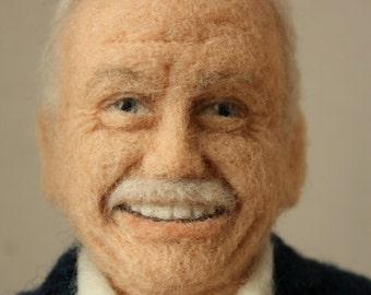 Portrait sculpture - Active Sportsman. Wool, 38 cm.