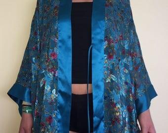 silky blue kimono