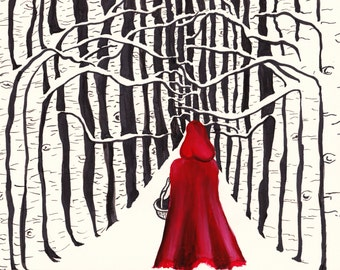 Little Red Riding Hood Fine Art Print