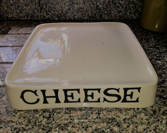 Antique G Rushbrooke Smithfield Ironstone Shop Display Cheese Slab