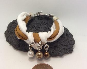 Fabric charm bracelet