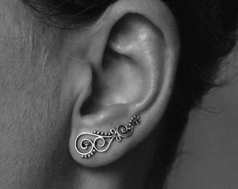 """Earring """"Spiral - dotted"""""""
