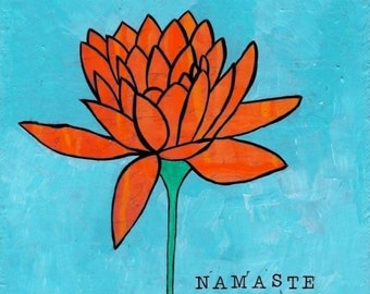 Namaste matted print 8x8 matted for 12x12 frame free ship in US