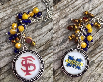 Customize Your Own House Divided Car Charm | College Gift | College Team Gift | NFL | NBA | MLB | Team Car Charm | Collegiate Accessory