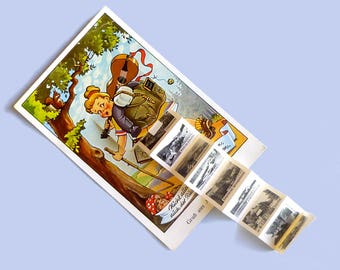 Postcard remember German vintage 1950 - old picture card flyer paper views black white photos Altenau/Oberharz to system