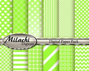 "60% OFF SALE Lime Digital Paper Pack - 8.5"" x 11"
