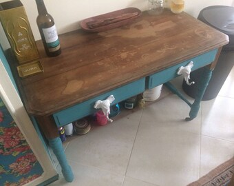 sold. Funky upcycled desk/table