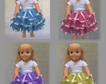 American girl doll, tutu set of four, Doll clothes, 18 inch doll clothes, Toddler birthday gift, Girl birthday gift,
