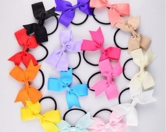 5pcs Lovely Fashion Ribbon Hair Tie , Ribbings Elastic Hair Tie , Bow Hair Ring -- YTC10