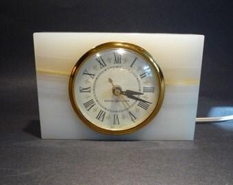 Mid Century Electric Onyx Clock