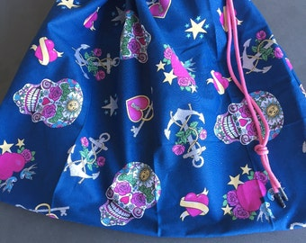 Girls Skulls  library bag, swimming bag, etc