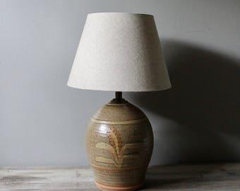 Vintage ceramic lamp | vintage studio pottery