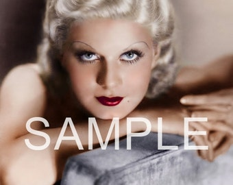 DISCOUNT LOT of 5 Fabric Art Quilt Blocks  Jean Harlow*  Free Shipping