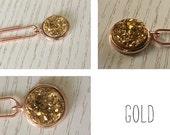 Star dust (gold) paper clip for your Midori / Fauxdori / Filofax / Planner