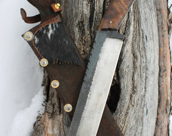 Large leaf spring camp knife