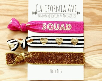 Squad Goals Hair Tie Set of 3, coworker gift