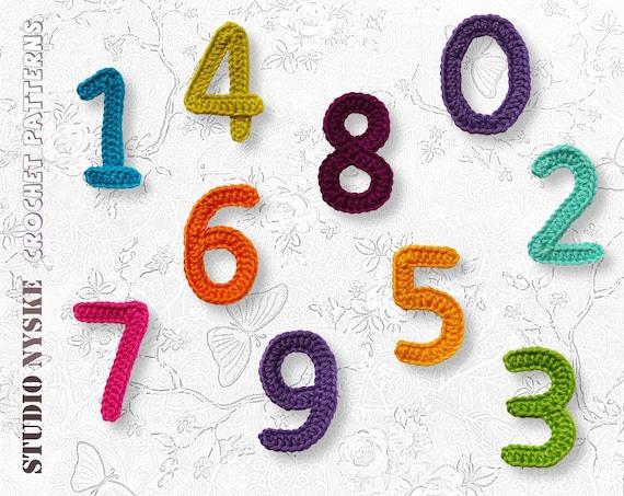 Applique numbers pattern crochet large PDF instant download