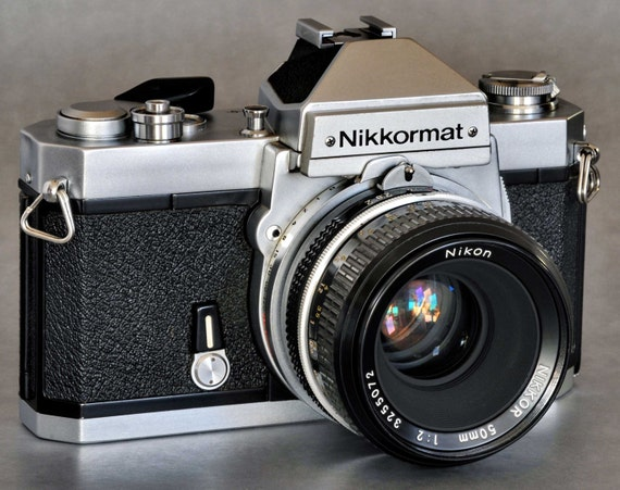Nikkormat Ft2 Slr W 50mm F 2 Nikkor H Non Ai Prime Lens