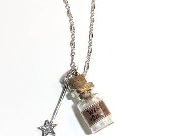 Wish Dust bottle necklace