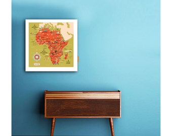 Africa pop map, world map, Africa map