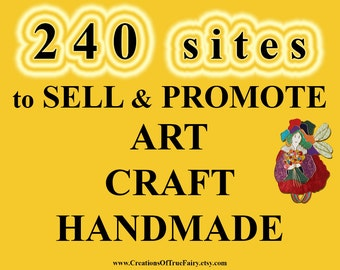 240 sites to sell and promote Art Craft Handmade Best places to advertise Sites to promote your shop Where sell handmade Ihappywhenyouhappy