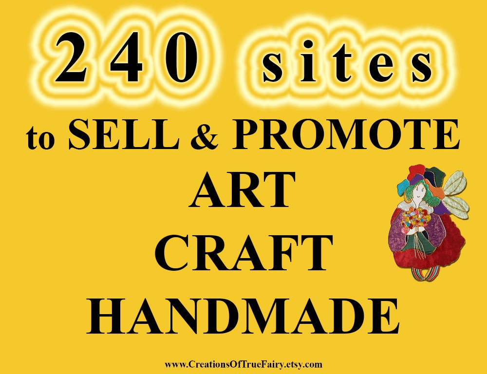 240 sites to sell and promote art craft handmade best places