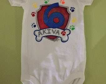 Personalized hand painted onesies for babies. Any subject or design.