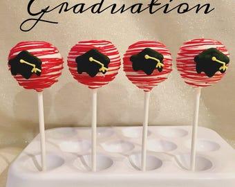 12 Graduation Cake Pops