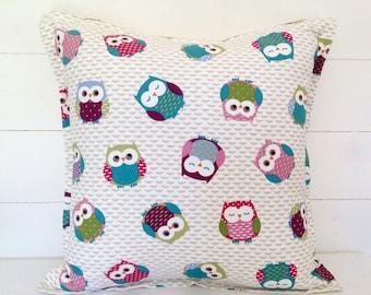 "Owls Cushion Cover 16"" 18"" 20"""