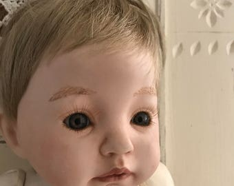 Vintage Dianna Effner Angela Bisque Head and Hands and Handmade Body Baby Doll