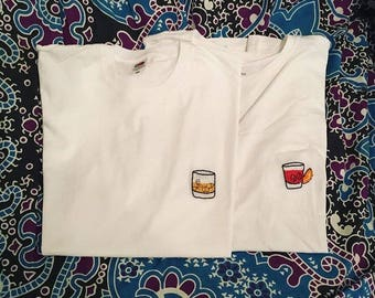 Neat Spirits Embroidered T Shirt